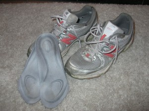 Old Tennis Shoes with Inserts