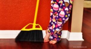 Child & Broom