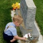 Child at Gravestone